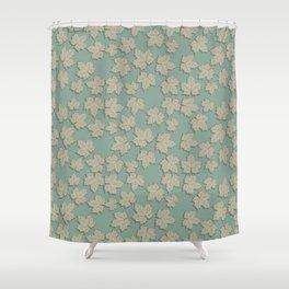 Vintage Leaves Shower Curtain