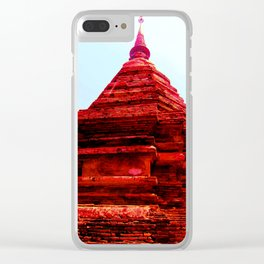 Wat Chiang Mai - Red Clear iPhone Case
