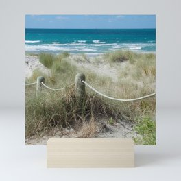 Seaside beach ropes Mini Art Print