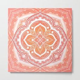 Mandala pattern - Indian floral motif Metal Print