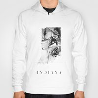 indiana Hoodies featuring Indiana by PearlStDesignCo