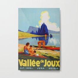 Vallee de Joux Vintage Travel Poster Metal Print