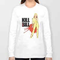 kill bill Long Sleeve T-shirts featuring Kill Vampire Bill by AriesNamarie