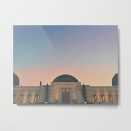 Griffith Observatory, Los Angeles.  Metal Print