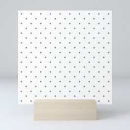 Small Grey Polka Dots Mini Art Print
