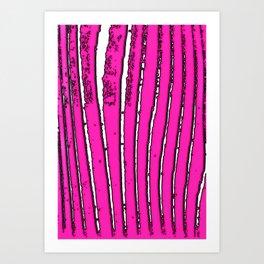 Pink Seaweed Art Print