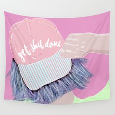 Time to get shit done Wall Tapestry