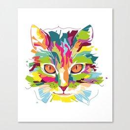 Cat Colorful Variation Canvas Print