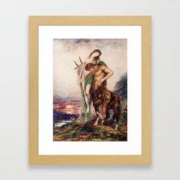"""Odilon Redon """"Dead poet borne by centaur"""" Framed Art Print"""