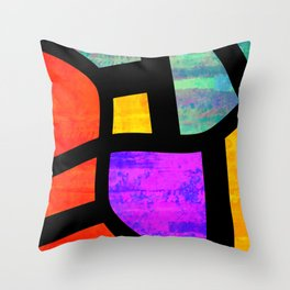 All the Right Angles, Abstract Art Throw Pillow