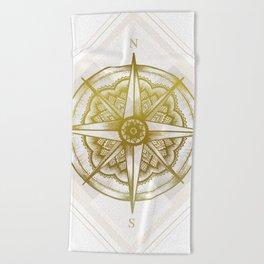 Golden Compass Beach Towel