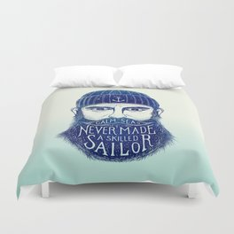 CALM SEAS NEVER MADE A SKILLED (Blue) Duvet Cover