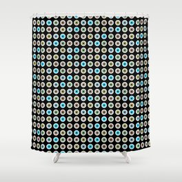 googly eyes pattern Shower Curtain