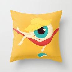 Lazy Eye Throw Pillow