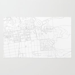 Abstract Map of UC Berkeley Campus Rug