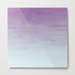 Watercolor Gradient - Purple and Mint Metal Print