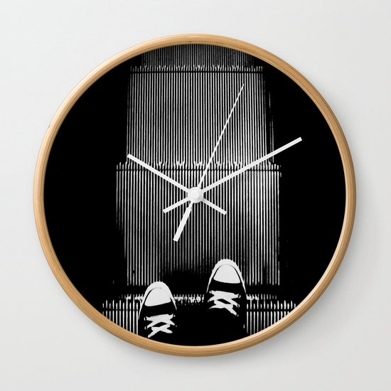 Up The Down Escalator Wall Clock