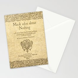 Shakespeare. Much adoe about nothing, 1600 Stationery Cards