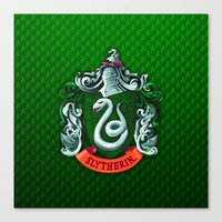 slytherin Canvas Prints featuring SLYTHERIN  by Smart Friend