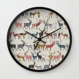 oatmeal spice deer Wall Clock