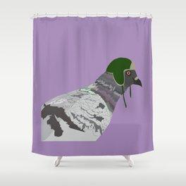 Luedue, dove with cap Shower Curtain