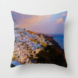 Santorini,Greece Throw Pillow