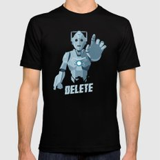 Nightmare in Silver (Cyberman) Mens Fitted Tee Black MEDIUM