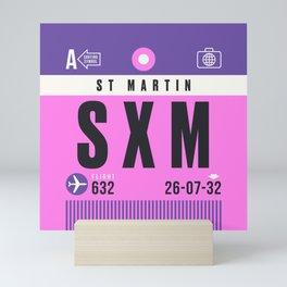 Luggage Tag A - SXM Saint Martin (Sint Maarten) Netherlands Mini Art Print