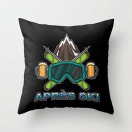 Apres Ski Team - Skiing And Snowboarding Throw Pillow