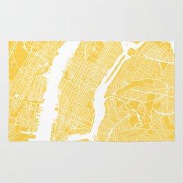 Manhattan map yellow Rug