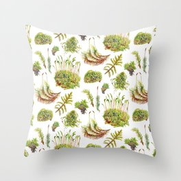 Mosses Throw Pillow