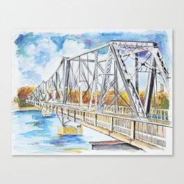 Bridge the Borders  Canvas Print