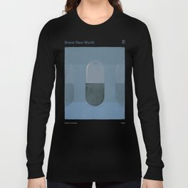 "Aldous Huxley ""Brave New World"" - Minimalist illustration literary design, bookish gift Long Sleeve T-shirt"