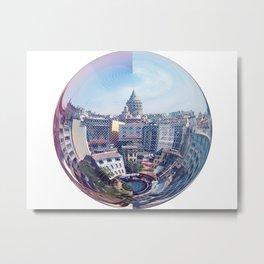 Galata Sphere Metal Print
