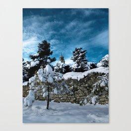 Nevada a Vilalba dels Arcs Canvas Print