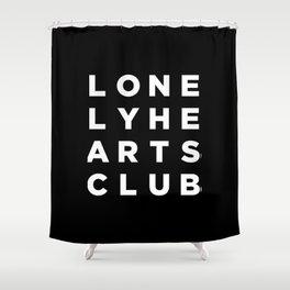 Lonely Hearts Club - 4 Arrangement - Black Shower Curtain
