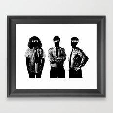 Work B&W Framed Art Print
