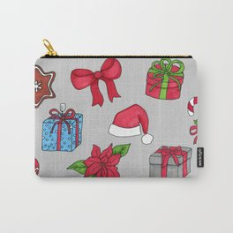 Christmas pattern (#1 grey) Carry-All Pouch