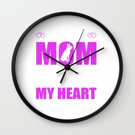 Rescue Dog Moms Full Heart Mothers Day T-Shirt Wall Clock