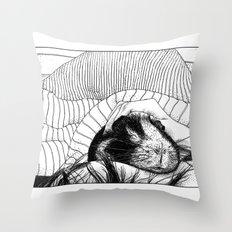 asc 559 - Le cobaye (Small furry thing) Throw Pillow