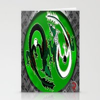 ying yang Stationery Cards featuring ying yang by Nerd Artist DM