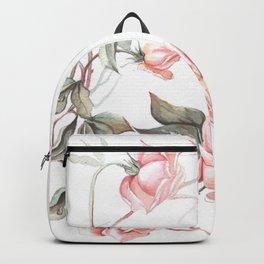 Pink Roses Floral Pattern Backpack