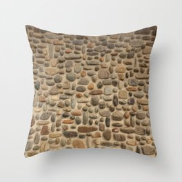 Mosaic Pebble Wall Throw Pillow