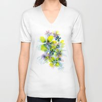 fireworks V-neck T-shirts featuring Fireworks by La Rosette Illustration