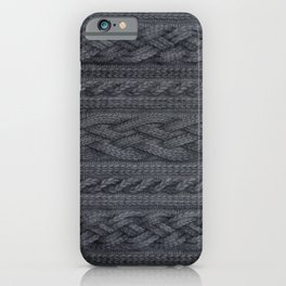 Charcoal Cable Knit iPhone Case