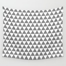 Triangles (Gray/White) Wall Tapestry