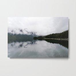 Misty morning at the lake Metal Print