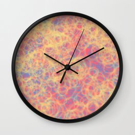 Bubbly Warm Wall Clock