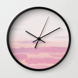pink ocean waves Wall Clock