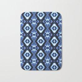 Bright Bue Diamond Pattern Bath Mat